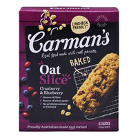 Carman's Baked Oat Slices - Cranberry & Blueberry