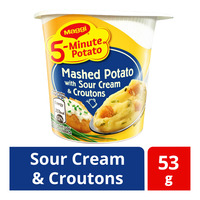 Maggi 5-Minute Instant Mashed Potato- Sour Cream & Croutons
