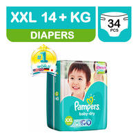 Pampers Baby Dry Diapers - XXL (14+ kg)