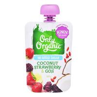 Only Organic Kindy Dessert Pouch - Coconut, Strawberry & Goji