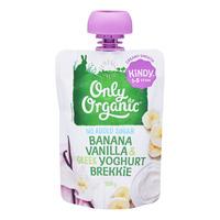 Only Organic Kindy Brekkie Pouch - Banana,Vanilla & GreekYoghurt