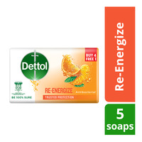 Dettol Anti-Bacterial Body Bar Soap - Re-Energize