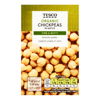 Tesco Organic Chick Peas in Water