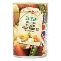 Tesco British Vegetables in water - Mixed Vegetables 300G