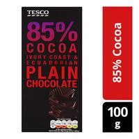 Tesco Chocolate Bar - 85% Cocoa