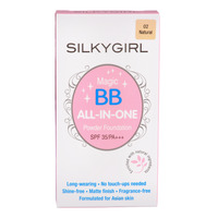 Silkygirl All-In-One Magic BB Cushion Powder Foundation -02Natural