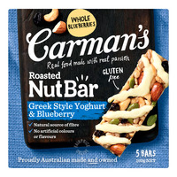 Carman's Nut Bars - Greek Style Yoghurt & Blueberry