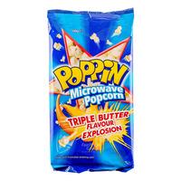Poppin Microwave Popcorn - Triple Butter