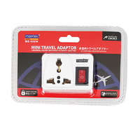 Morries Travel Adaptor - Mini with Switch (MS-008W)