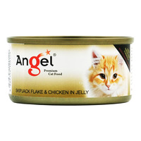 Angel Premium Cat Can Food - Skipjack Flake & Chicken in Jelly