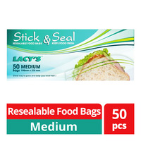 Lacy's Stick & Seal Resealable Food Bags - M