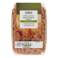 Tesco Organic Wholewheat Pasta - Fusilli