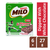 Milo Snack Bars - Dipped With White Chocolate