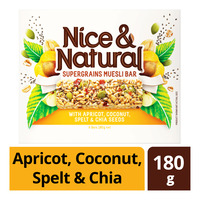Nice & Natural Supergrains Muesli Bar -Apricot,Coconut,Spelt&Chia