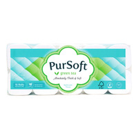 PurSoft Bathroom Tissue Roll - Green Tea (4ply)