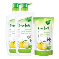 Eversoft Shower Foam + Refill - Refresh & Energise