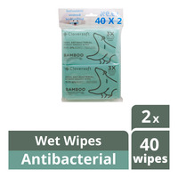 Cloversoft Bamboo Wet Wipes - Antibacterial