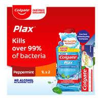 Colgate Plax Mouthwash - Peppermint Fresh + Free 60g Toothpaste