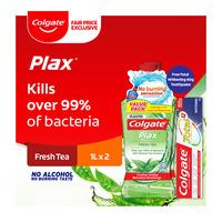Colgate Plax Mouthwash - Fresh Tea + Free 60g Toothpaste