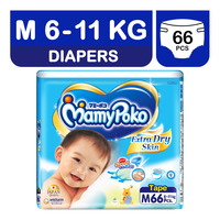 MamyPoko Extra Dry Skin Diapers - M (6 - 11kg) 66S