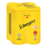 Schweppes Carbonated Can Drink - Tonic Water