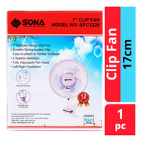Sona Clip Fan - 17cm