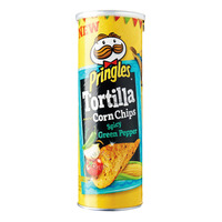 Pringles Tortilla Corn Chips - Spicy Green Pepper