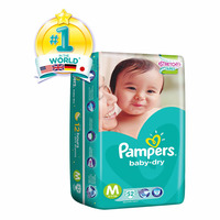 Pampers Baby Dry Diapers - M (6 - 11kg) 52S
