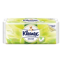 Kleenex Clean Care Toilet Tissue Rolls - Green Tea