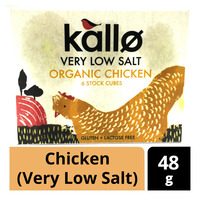 Kallo Organic Stock Cubes - Chicken (Very Low Salt)