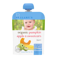 Bellamy's Organic Ready to Eat Baby Food - PumpkinApple&Sweetcorn