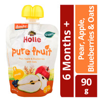 Holle Organic Baby Fruit Puree - Pear, Apple, Blueberries & Oats