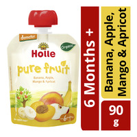 Holle Organic Baby Fruit Puree - Banana, Apple, Mango & Apricot