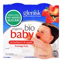 Glenisk Organic Baby Yogurt - Strawberry & Apple