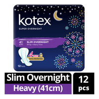 Kotex Super Slim Overnight Wing Pads - Heavy (41cm)