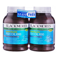 BLACKMORES odourless fish oil 1000mg value pack 400 capsules x2