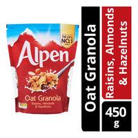 Alpen Oat Granola - Raisins, Almonds & Hazelnuts