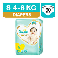 Pampers Premium Care Diapers - S (4 - 8kg) 60S