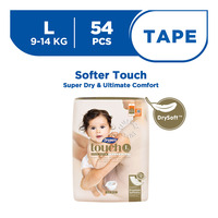 Drypers Touch Diapers - L (9 - 14kg) 54S