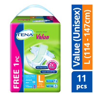 TENA Value Unisex Adult Diapers - L (114 - 147cm)