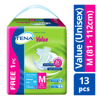TENA Value Unisex Adult Diapers - M (81 - 112cm)