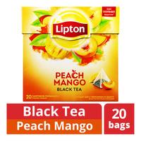 Lipton Pyramids Black Tea Bags - Peach Mango
