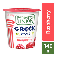 Farmers Union Greek Style Yoghurt - Raspberry