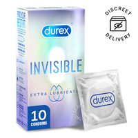 Durex Condom - Invisible Extra Lubricated (52mm)