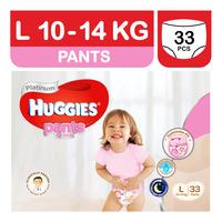 Huggies Platinum Girl Pants - L (10 - 14kg)