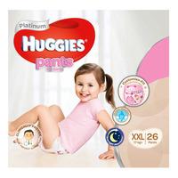 Huggies Platinum Girl Pants - XXL (17+ kg) 26S