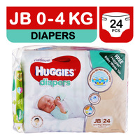 Huggies Platinum Diapers - JB + Free Baby Wipes