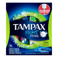 Tampax Pocket Pearl Tampons - Super (Unscented)