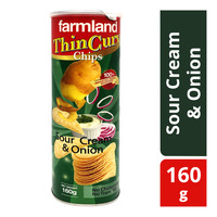 Farmland Thin Curv Potato Chips - Sour Cream & Onion