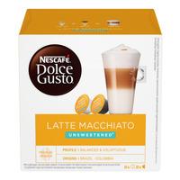 Nescafe Dolce Gusto Beverage Capsules-LatteMacchiato(Unsweetened)